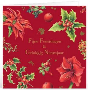 Kerstkaart frans voor op een kaartje
