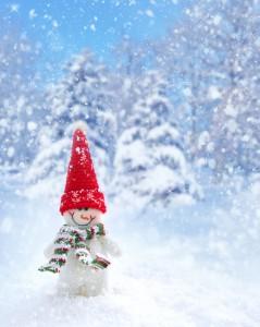 Witte kerst teksten voor op een kaartje
